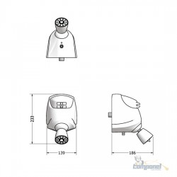 Chuveiro Elétrico Multitemperatura 127V (110V) 5500W Branco Jet 4 Lorenzetti